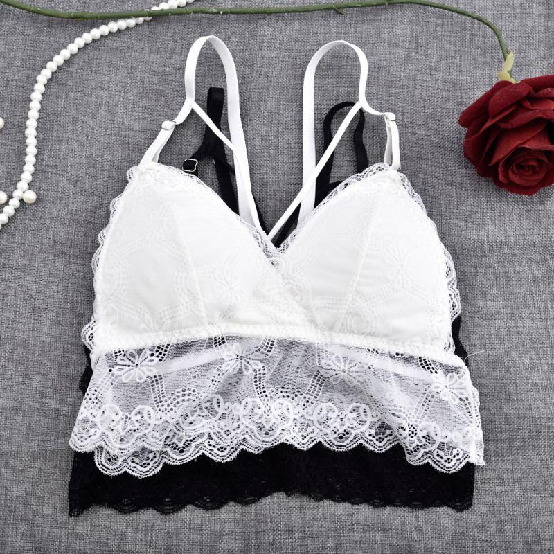 1ef6528e33e8a Home   Sexy Women Lace lingerie Thin Cross Bandage Bra Bralette Crop Tops  Transparent Full Cup Bra Unpadded Crop Top Bustier Underwear. Previous. Next