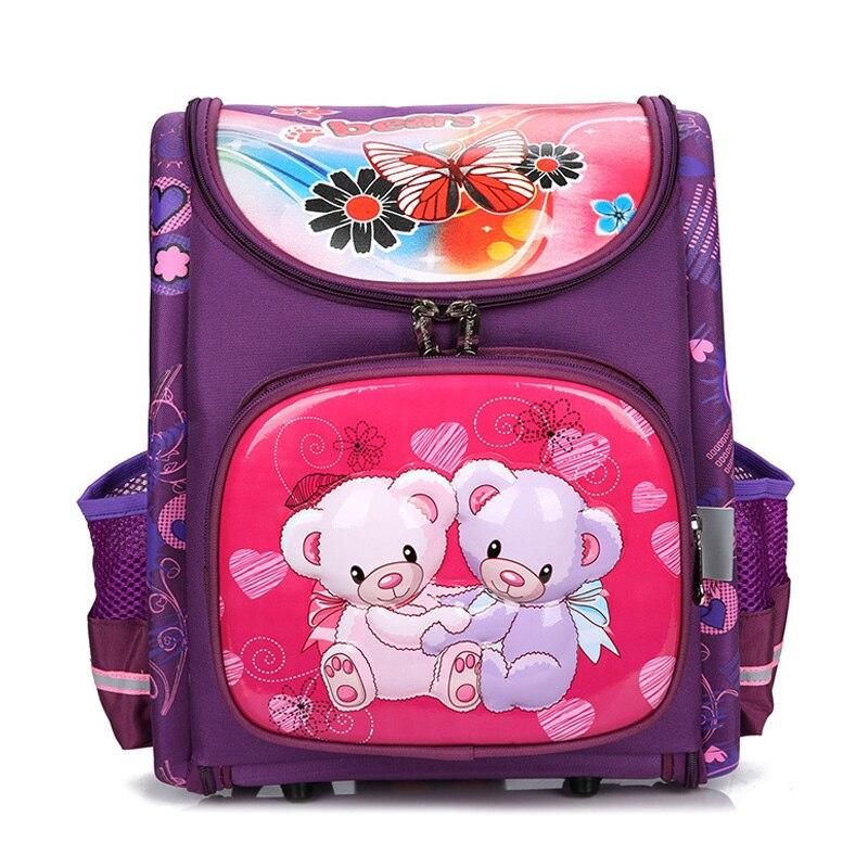 41ed6d299ab8 2019 детские школьные сумки ортопедические школьные рюкзаки для девочек  Медведь Бабочка Рюкзак Школьный рюкзак Mochilas класс 1-3