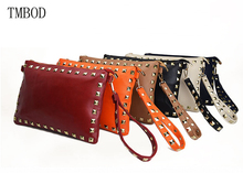 TMBOD goddess kingdom European and American Style women pu leather kors rivet solid handbags for party and business.y146