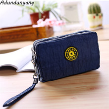 Polka Dots Print Women Coin Purse Clutch Wristlet Wallet Bag Phone Key Case Makeup Bag Women credit card holder Tote