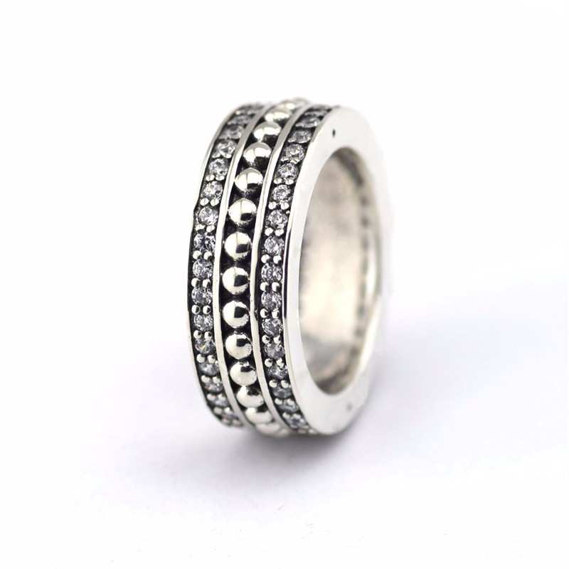 Original 925 Sterling Silver Jewelry Forever Silver Rings with Clear CZ Fashion Jewelry Trendy Rings for Women FLR063