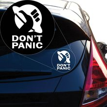 лучшая цена Yoonek Graphics Don't Panic Vinyl Decal Sticker # 855 (4