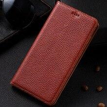 Старинные личи зерна натуральная кожа чехол для Samsung Galaxy A7 A720F A7200 2017 5.7 »телефон раскладной стенд натуральной кожи Обложка