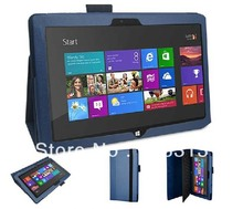 Litchi Pattern Leather Flip Case for Microsoft Surface RT Windows 8 10.6 Inch Tablet PC Back Standable Cover Free Shipping