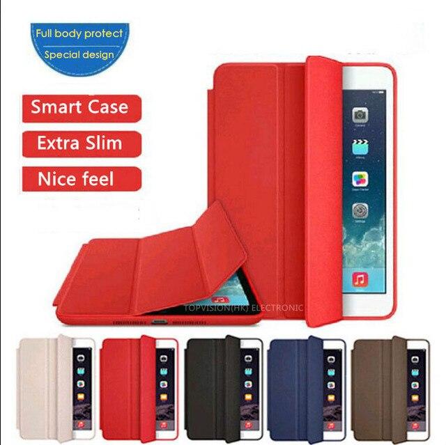 Хороший специальный дизайн логотипа полный защитите magnetic PU кожаный smart case для apple ipad air 2 1 ipad 2 3 4 распространяется на случаи 6 тонкий тонкий