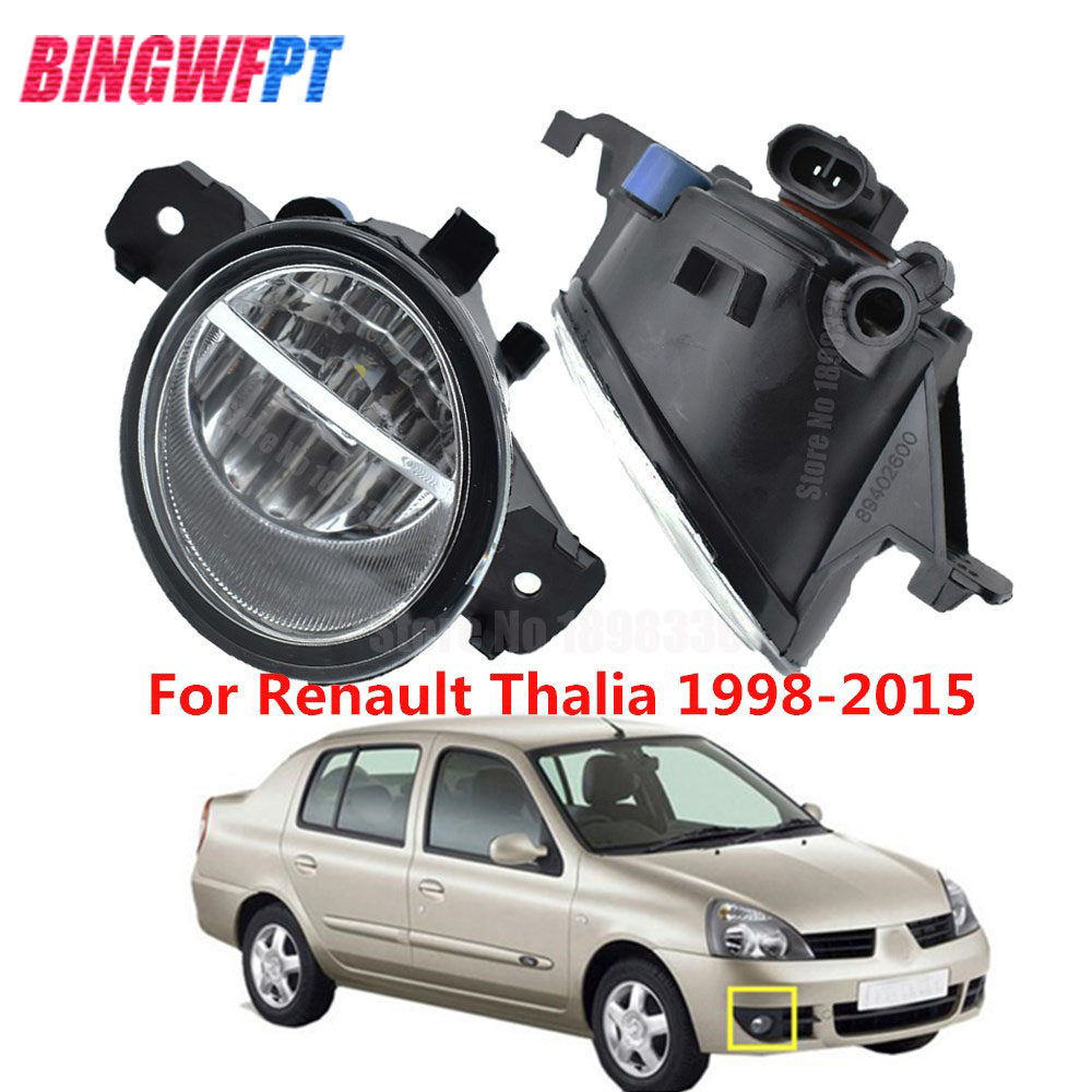 2PCS High Quality <font><b>LED</b></font> Fog Light Lamps For <font><b>Renault</b></font> <font><b>MASTER</b></font> <font><b>3</b></font> VEL SATIS THALIA SYMBOL KOLEOS 1998-2015 image