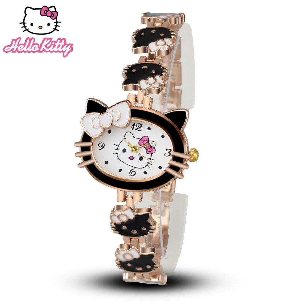 Toy Hello Kitty Watch : Women child cartoon bracelet watch hello kitty fashion