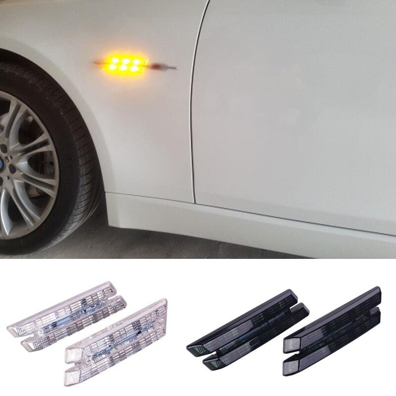 2pcs Car LED Turn Signal Light For BMW E39 E53 E52 E60 E61 E81 E82 E87 E90 E91 E92 E93 Fender Side Marker Light LED Car-styling