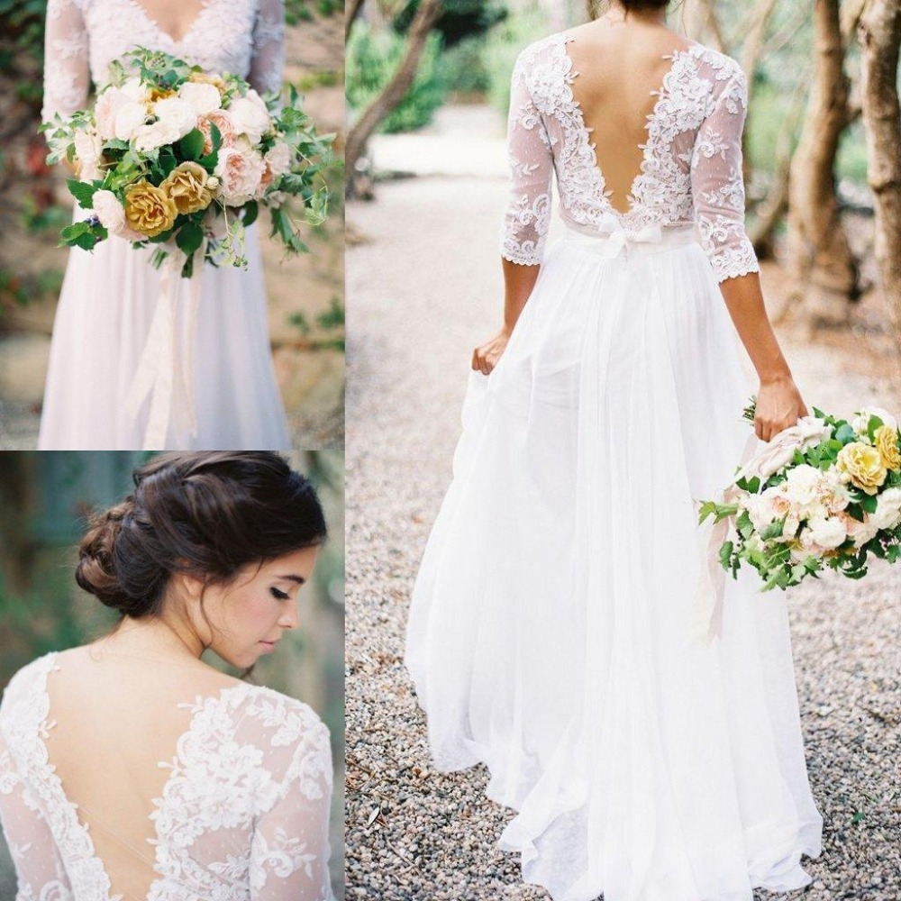 cheap bohemian wedding dresses bohemian wedding dress cheap Boho Off Shoulder Sheath Scalloped Lace Wedding Dress With Long Train
