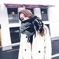 SH023 Nuevo reloj de Lujo Mujeres Bufanda de Invierno Estrellas Grandes Chales para Mujer Caliente de la Cachemira Pashmina Bufanda A Cuadros de La Vendimia para Las Mujeres envuelve