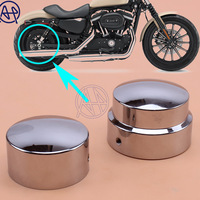 2x Motorcycle Aluminum Rear Axle Nut Covers Bolt Chrome For Harley Sportster XL 883 1200 Dyna Softail Models FXDB FLSTN 2008 16
