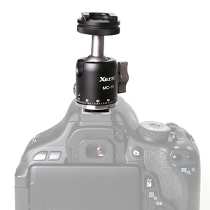 Image 5 - MC 19Aluminum  Mini Ball Head w 1/4 Screw and Cold Shoe Adapter for Phone Tripod LED Video Light Monitor Swivel on DSLR Camera