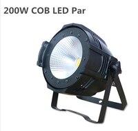 High quality 2in1 warm +cold white DMX LED 200W COB Par Stage Lighting dj light Dmx controll