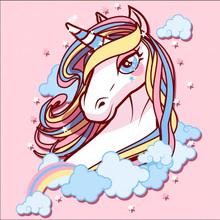 Oly 5D Diamond Painting Full Drill Unicorn Mosaic Pony Round Rhinestones Pictures Embroidery Cartoon Home Decor