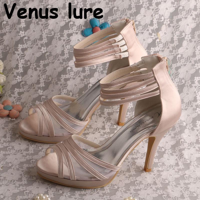 Nude Color Wedding Bride Shoes Sandals
