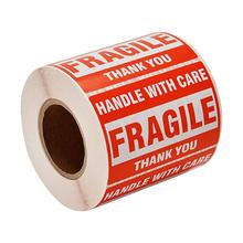 500pcs 2*3inch Fragile Stickers handle with care Warning Packing/Shipping Labels stickers THANK YOU Permanent Adhesive sticker