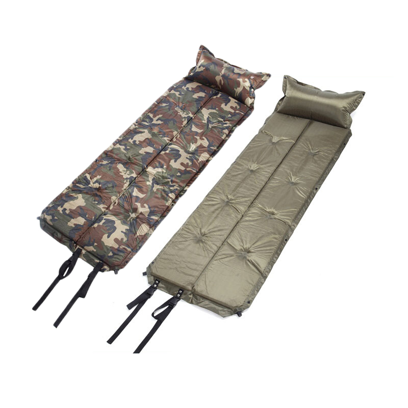 Outdoor Waterproof Dampproof Sleeping Pad Tent Air Mat Mattress Camping Automatic Inflatable Mat with Pillow 185*60*2.5CM-in Camping Mat from Sports & Entertainment    2