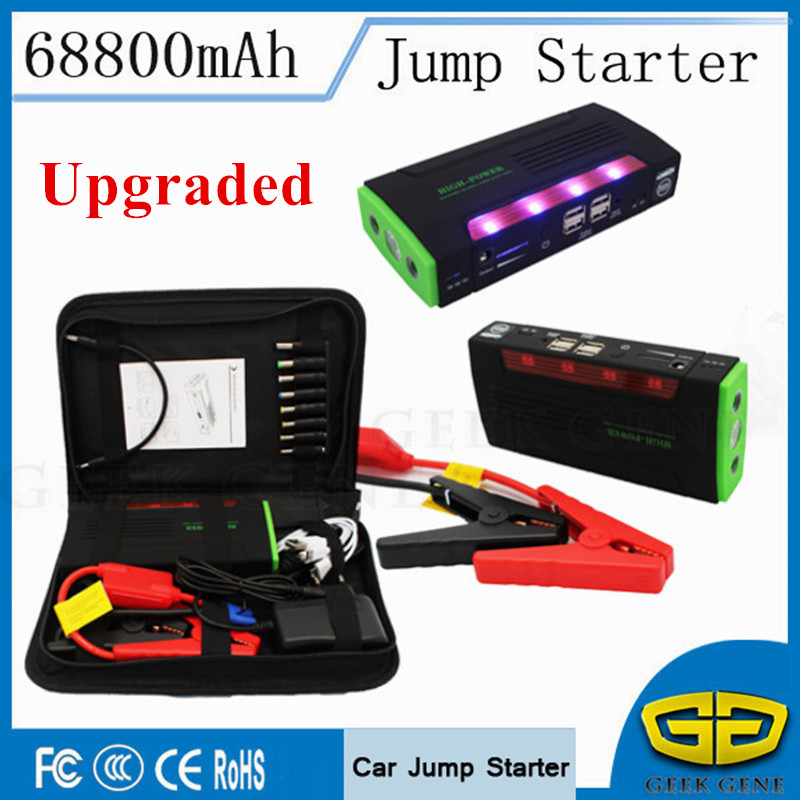 Portable Starting Device 68800mAh Petrol Diesel Jumper 600A Peak Car Battery Booster Starter 12V Car Charger For Car Battery LED sun lumen лампа накаливания sun lumen колба прозрачная e27 60w 053 228