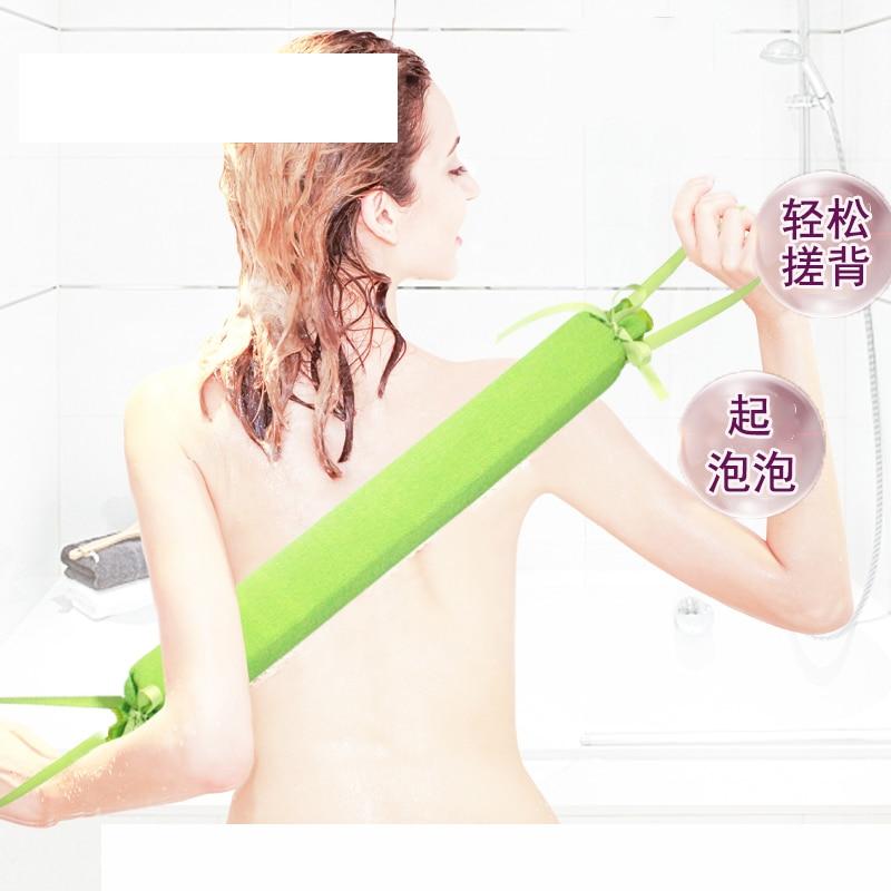 2019 Fashion Shower Washcloth Long Back Soft Body Cleaning Bath Spa Sponge Scrubber Skin Exfoliating Body Wash Towel Accessories