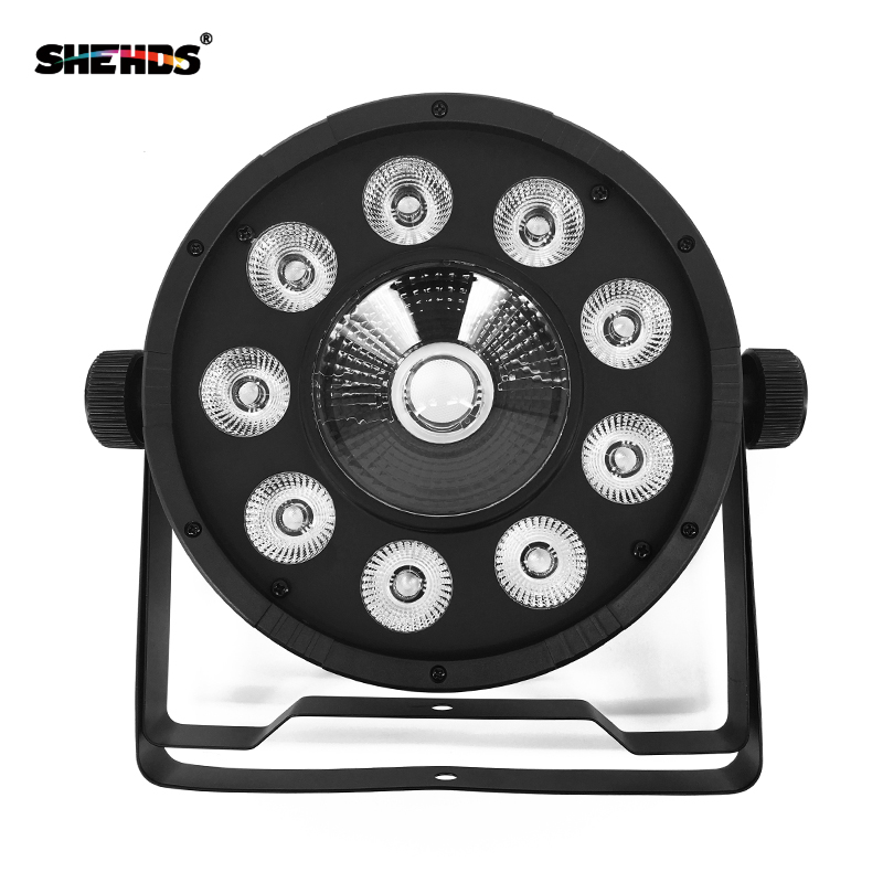 LED Flat Par 9x10W+30W RGB Lighting For DMX512 Stage Effect Professional DJ Equipment And Party Dance Floor Disco Free Shipping