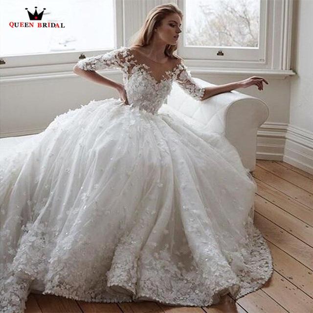 Aliexpress.com : Buy Vintage Luxury Ball Gown Fluffy Big Train ...