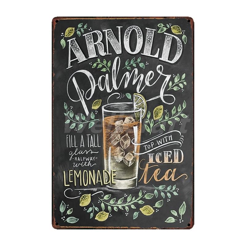 [WellCraft] кофе Коктейль любовь торт чай жестяная вывеска настенные таблички на заказ металлическая живопись античный подарок Бар Паб Декор LT-1704 - Цвет: SA-2616