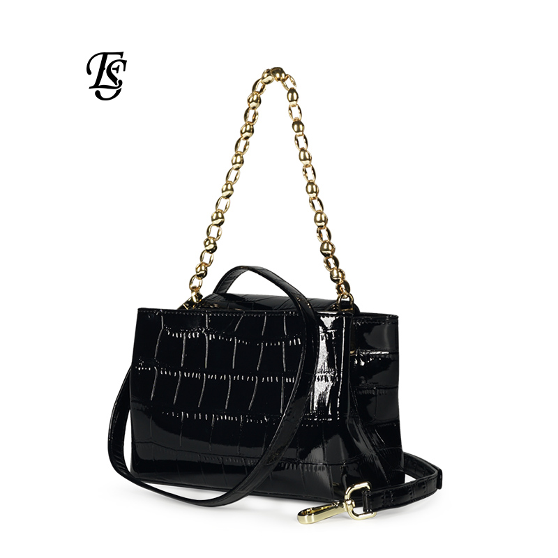 E SHUNFA brand 2019 new female shoulder bag fashion stone pattern chain handbag wild magnetic buckle