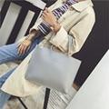 Ybyt marca 2017 nuevo ocio de la manera sólida bolsos de hotsale de las señoras de oficina de cuero de la pu bolsos de las mujeres de gran capacidad simple satchel