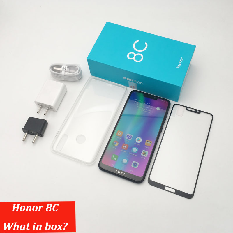 8c Honor 8c 3 fentes Face ID 6.26 pouces Snapdragon 632 Octa Core avant 8.0MP double caméra arrière 4000mAh - 4