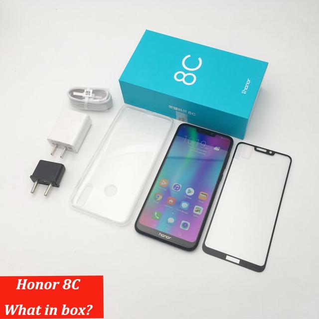 Huawe  8c Honor 8c 3 slot Face ID 6.26 inch  Snapdragon 632 Octa Core Front 8.0MP Dual Rear Camera 4000mAh