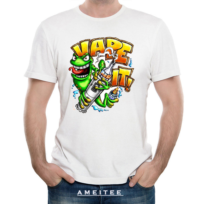 vape it cartoon t shirt men t shirts 2018 new summer casual fashion t shirt harajuku short. Black Bedroom Furniture Sets. Home Design Ideas