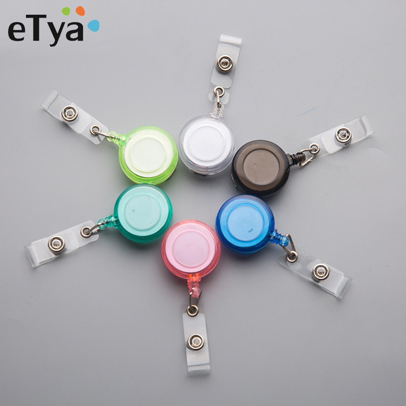 ETya ID Card Holder Badge Reel Retractable Adjustable Men Women Identity Badge Business Credit Card Holder Accessories