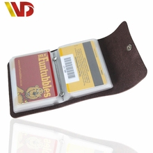 2016 New Fashion Leather Cover passport Credit Card Bags Leather purse Bank 24 ID Card Case Business Holders Card men's Wallets