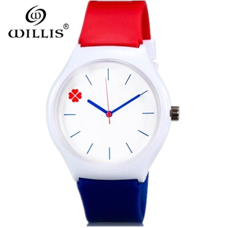 Кварцевые часы Willis, модные женские повседневные часы с четырехлистным клевером, водонепроницаемые наручные часы с силиконовым ремешком|watch casual|watch fwatch fashion | АлиЭкспресс