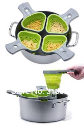how to use a strainer for noodles