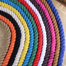20mm handmade diy accessories three strands twisted rope cotton colored decorative design twist thick