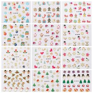 Image 3 - Очаровательные 3D цветные наклейки для ногтей, украшения для ногтей, дизайн ногтей, слайдеры, украшение для маникюра «сделай сам»