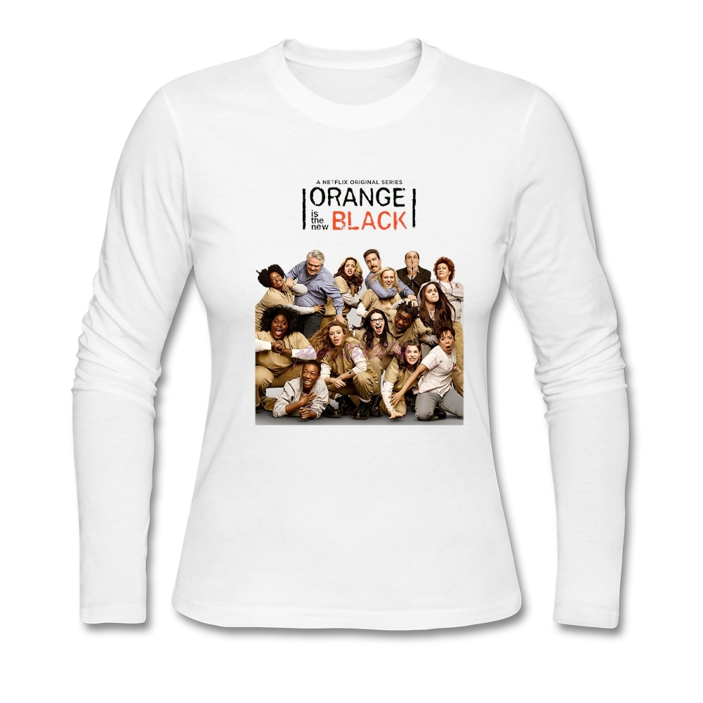 Shirt design website cheap - Fantastic Long Sleeves T Shirt Websites Orange Is The New Black Women Design T Shirt Woman