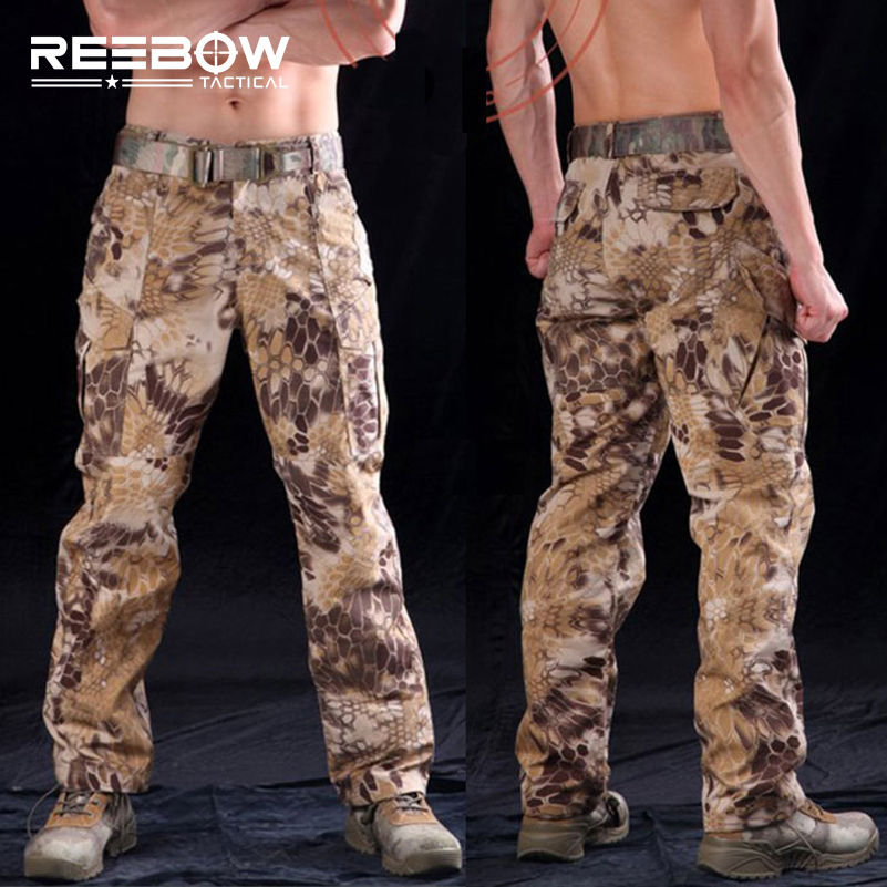 314c48cd27b6a REEBOW TACTICAL Outdoor Airsoft Hunting Pants Men Rattlesnake Camouflage  Sports Trousers Military Shooting Urban Paintball-in Hiking Pants from  Sports ...