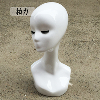 Free Shipping High Quality Fiberglass Realistic Female Manikin Dummy Head Mannequin Heads Bust For Wigs Hat