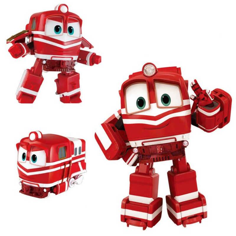 Yeni 4 Adet Grup Tren Aile Figurleri Robot Trenler Donusum Robot