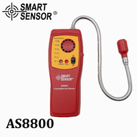 Combustible Gas Analyzer Flammable Gas Leak Detector With Rechargeable Battery Sound Light Alarm Gift Box Smart