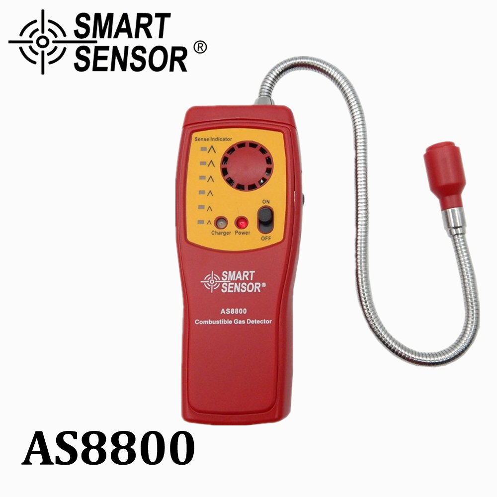 Natural gas detector Flammable Combustible gas Leak Detector digital gas analyzer monitor teste with rechargeable battery AS8800 digital combustible petrol gasoline gas leaks detector