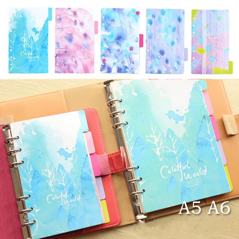 Notebook Planner Accessories Colorful World Dividers Index page Bookmark Plate 5 sheets/Set for Filofax Cute Gift Stationery кольца page 5