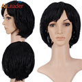 Top Quality Black Short Micro Braids Wig Natural Cheap Hair Wig Crochet African American Braided Wigs For Black Women No Lace