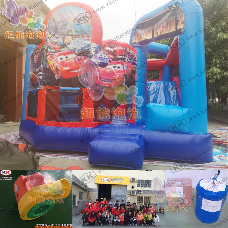 Commercial Use Bouncy Castle Slide, Cartoon Theme Bounce House Slide for Rental