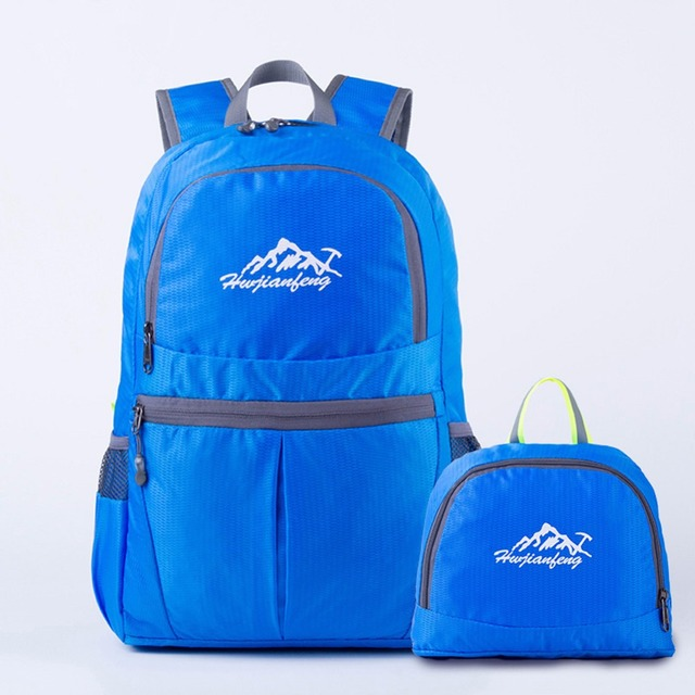 4b341106e9 Ultralight Folding Backpack Waterproof Outdoor Hiking Camping Backpack  Travel Bag Nylon Sport Pack Mini Folding Handbag