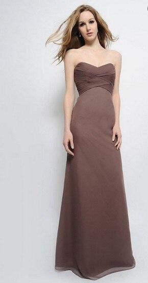 Brown Chiffon Bridesmaid Dresses