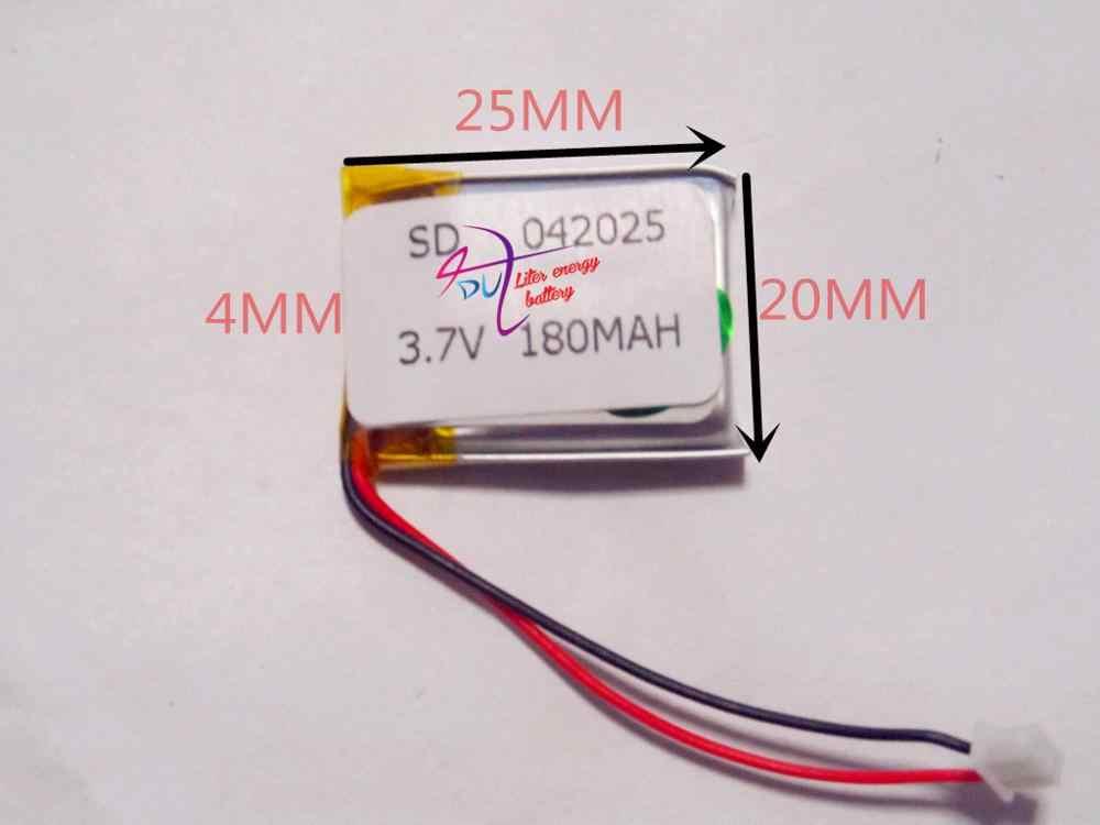 Лучшие Батарея бренд 042025 P 402025 P MP3/4/5 Батарея 3,7 V 180 mAh полимерный аккумулятор Bluetooth Батарея