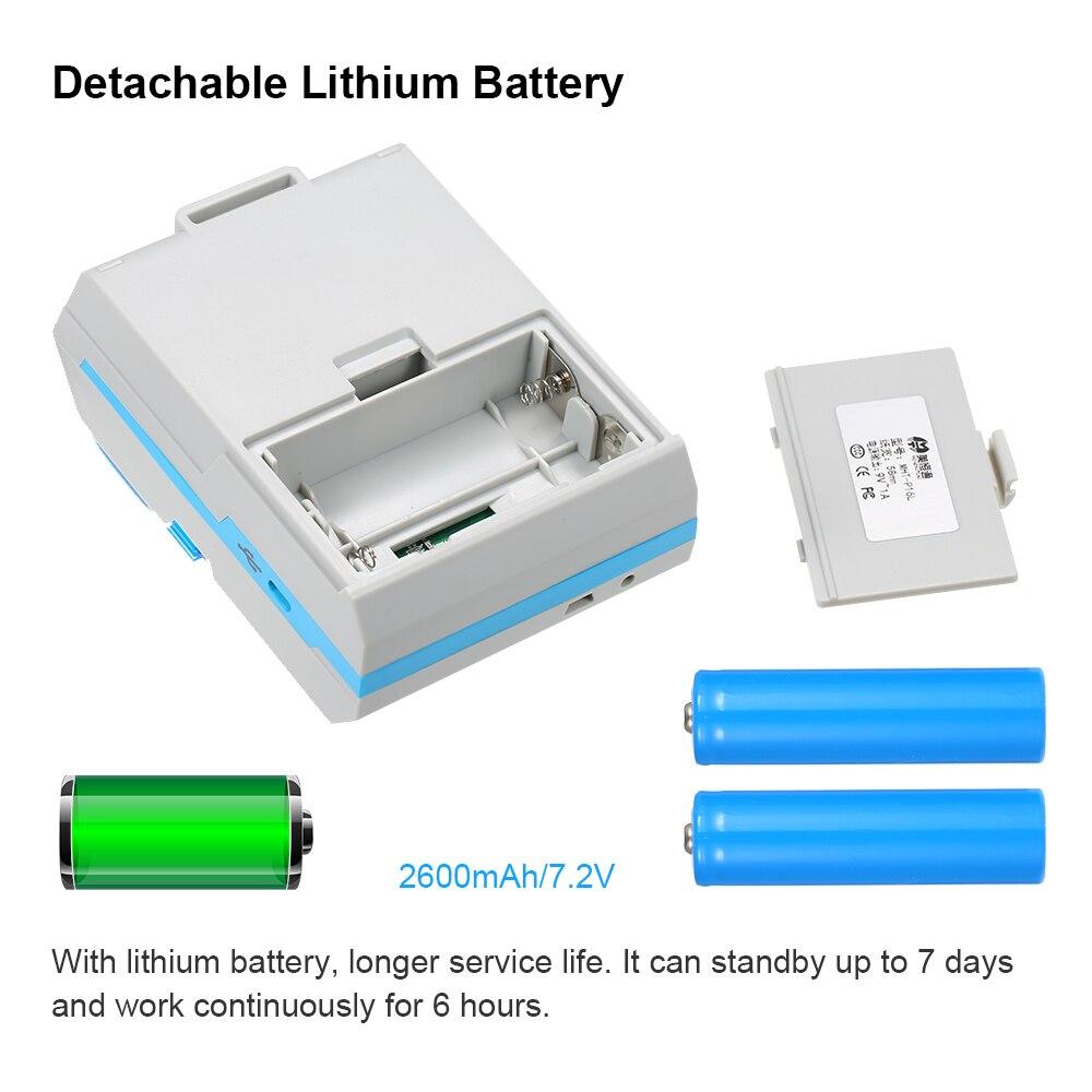 58mm Thermische Label Drucker unterstützung Android/IOS system USB/Bluetooth Drucker mini tasche drucker bar code maker
